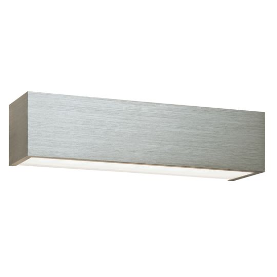 Saxby Lighting Brushed Silver Anodised & Frosted Glass Shale Cct Wall 9W Wall Light 46395