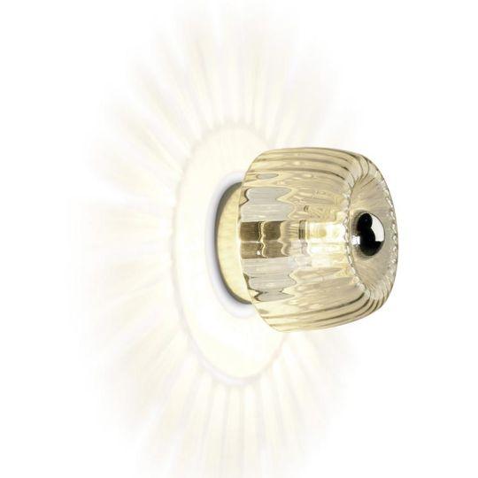 LA CREU Lighting - SUNNY Ceiling/Wall Light, Chrome, Transparent Glass - 510-CR