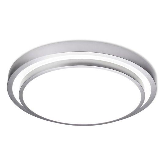 LA CREU Lighting - ROUND Ceiling Light, Grey, Opal Policarbonate - 514-GR
