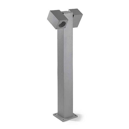 LEDS C4 Lighting - Icaro Twin Head Post Grey - 55-9190-34-37
