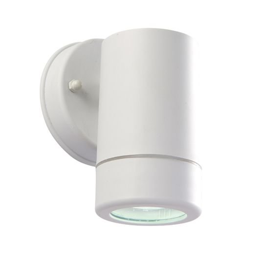 Endon Lighting 61004 - Icarus 1Lt Wall Ip44 2.5W White Polypropylene And Clear Pc Outdoor Wall Light