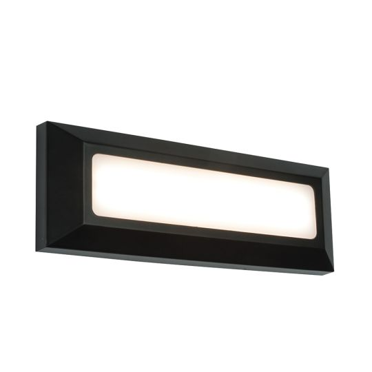 Saxby Lighting Black Abs Plastic & Frosted Pc Severus Landscape Direct Ip65 3W Outdoor Wall Light 61211
