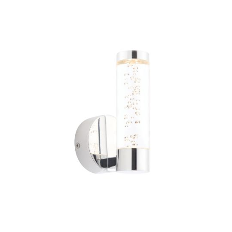 Endon Lighting Essence Chrome Plate & Clear Bubble Acrylic 1 Light Bathroom Wall Light 72046
