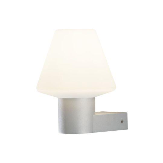 Konstsmide 7271-302 Grey Barletta - Lacquered Aluminium / 0Pal Coloured Glass (19x23x24.5)
