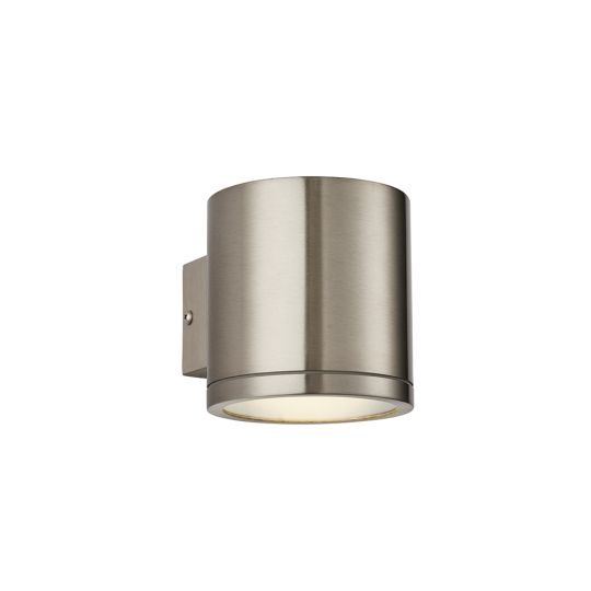 Endon Collection Nio Marine Grade Br Stainless Steel & Clear Glass 1 Light Outdoor Wall Light 73193