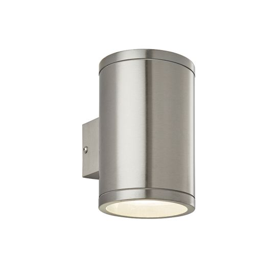 Endon Collection Nio Marine Grade Br Stainless Steel & Clear Glass 1 Light Outdoor Wall Light 73194