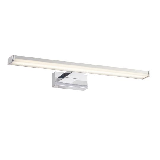 Endon Lighting Axis Chrome Effect & Frosted Plastic 1 Light Bathroom Wall Light 76658