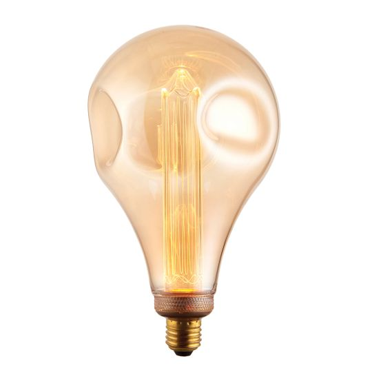 Endon Lighting Xl E27 Led Dimple Globe Amber Glass Un-Zoned Accessory 77085