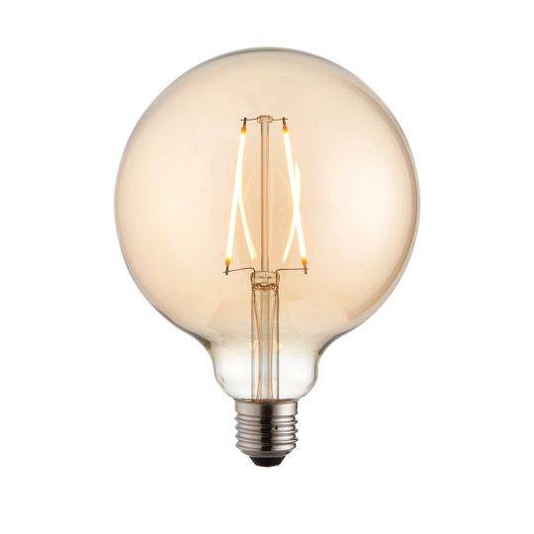 Endon Lighting E27 Led Filament Globe Amber Glass Un-Zoned Accessory 77111