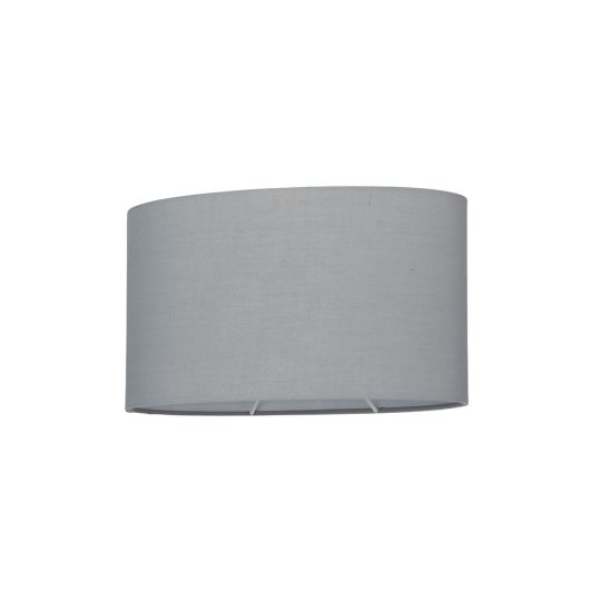 Endon Collection Ellipse Grey Fabric Shade 77483