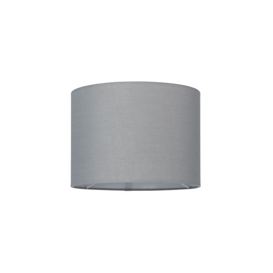 Endon Collection Cylinder Grey Fabric Shade 77512