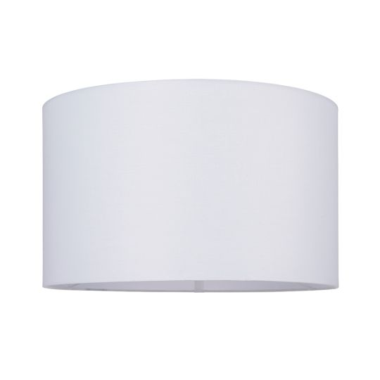 Endon Collection Cylinder Vintage White Fabric Shade 77513