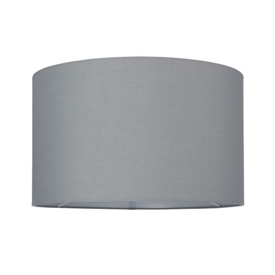 Endon Collection Cylinder Grey Fabric Shade 77514