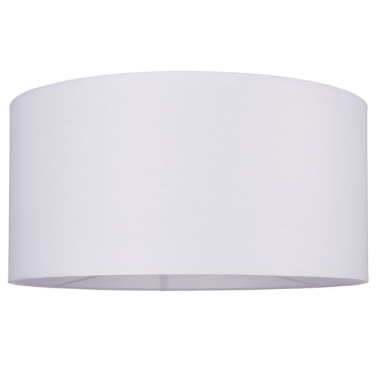 Endon Collection Cylinder Vintage White Fabric Shade 77515