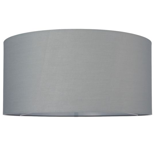 Endon Collection Cylinder Grey Fabric Shade 77516