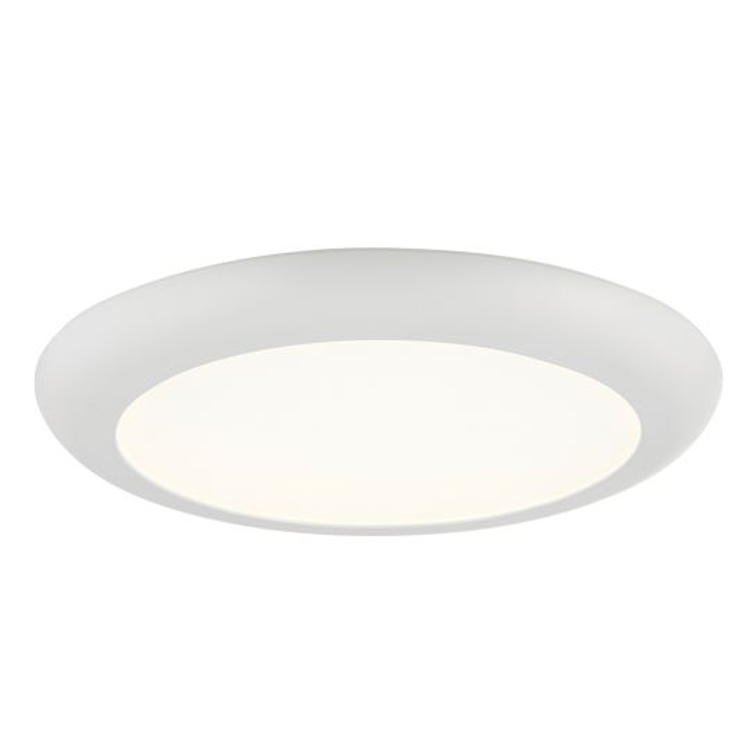 Saxby Lighting Matt White Textured Pc & Opal Ps Plastic Siriodisc Adjustable 18W Recessed Light 78541
