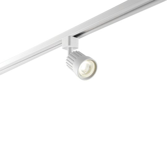 Saxby Lighting Matt White Paint & Clear Prismatic Pc Pacto Track Head White 10W Track Light 78959