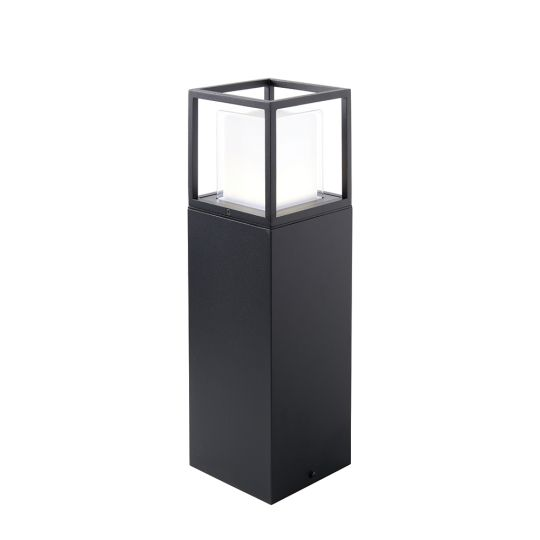 Saxby Lighting Textured Black Paint & Clear Pc & Frosted Pc Arlow Post Ip44 8.64W Outdoor Floor Light 79202