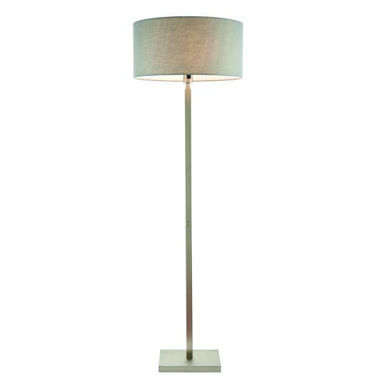 Endon Collection Norton Cylinder Matt Nickel Plate & Grey Fabric 1 Light Floor Light 79270