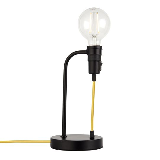 Endon Lighting Studio Matt Black 1 Light Table Light 79383