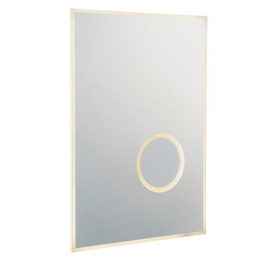 Endon Collection Tec 2 Mirrored Glass & Silver Paint 1 Light Bathroom Wall Light 79609