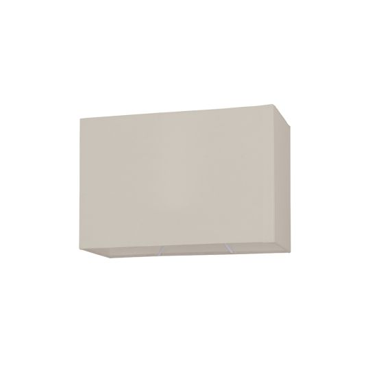Endon Collection Rectangular Taupe Fabric Shade 80576