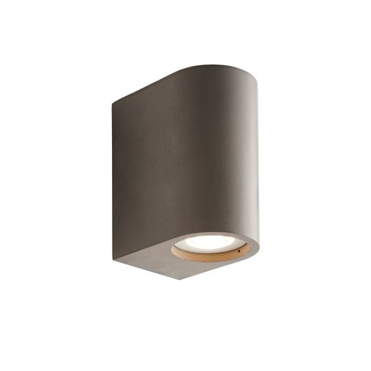 Endon Collection Anders Grey Concrete 2 Light Wall Light 80668