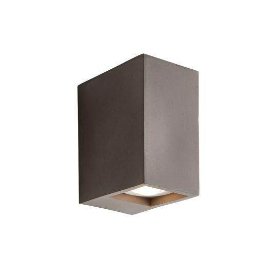 Endon Collection Tor Grey Concrete 2 Light Wall Light 80669