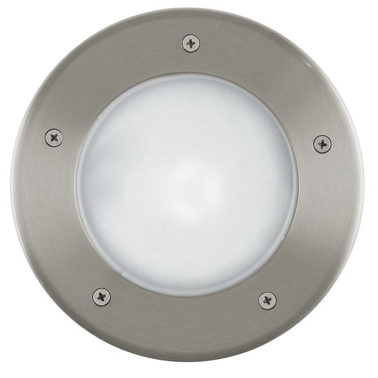 Eglo Riga 3 Stainless Steel Outdoor Ground Recessed Light (86189)