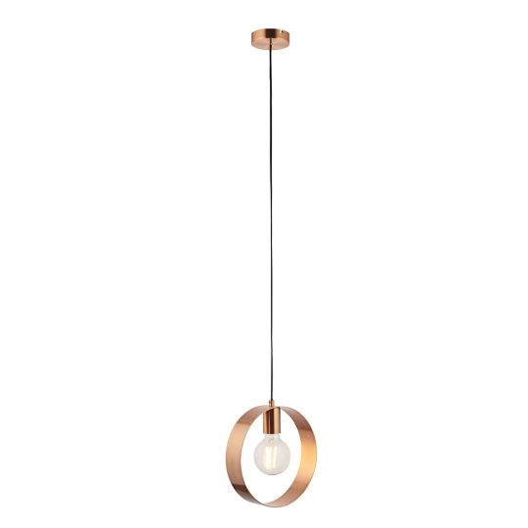 Eglo Lighting - RAINA TL/1 E14 nickel-matt/brown-antic - 90456