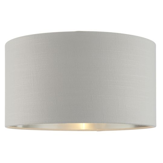 Endon Lighting Highclere Silver Fabric & Bright Nickel Plate Shade 94395