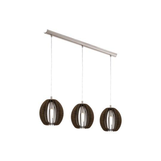 Eglo Cossano Satin Nickel Pendant Lamp (94641)