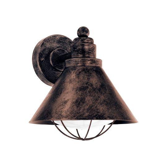 Eglo Barrosela Copper-Coloured Antique Outdoor Wall Light (94858)