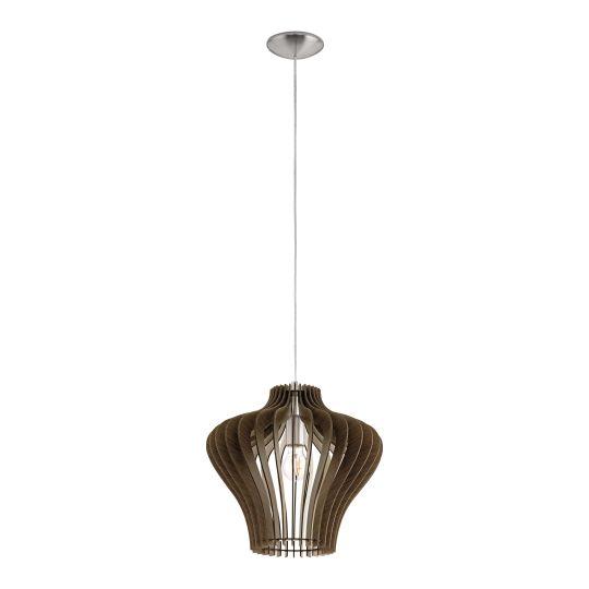Eglo Cossano 2 Satin Nickel Pendant Lamp (95259)