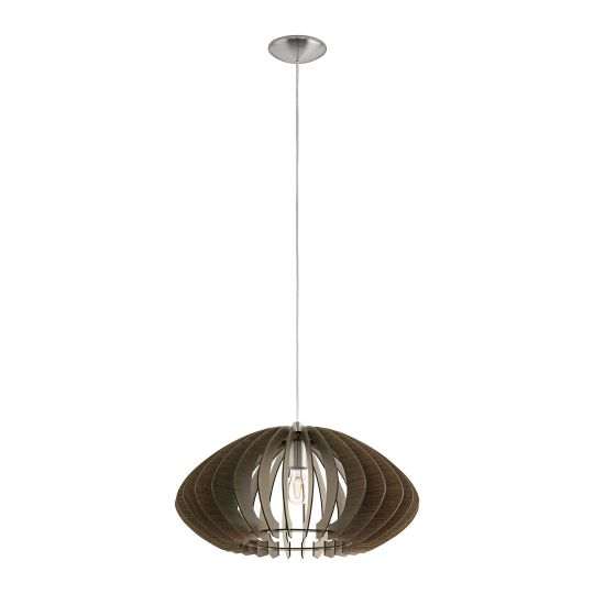 Eglo Cossano 2 Satin Nickel Pendant Lamp (95261)