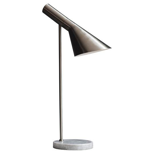 Endon Lighting Carlo Brushed Chrome Plate & Grey Marble 1 Light Table Light 95460