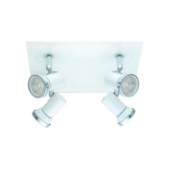 Eglo Tamara 1 White Chrome Wall/Mirror Lamp (95995)