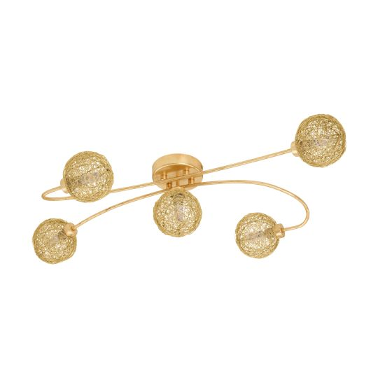 Eglo Caris 1 Gold-Coloured Wall/Ceiling Light (97726)