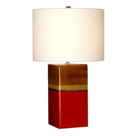 Elstead Lighting Alba 1 Light Table Lamp - Rouge ALBA-TL-ROUGE