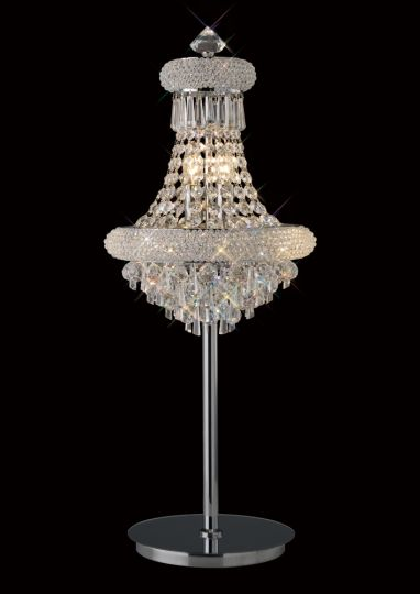 Diyas IL31443 Alexandra Table Lamp 5 Light Polished Chrome/Crystal