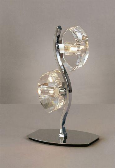 Mantra M0427 Alfa Table Lamp 2 Light G9 Polished Chrome