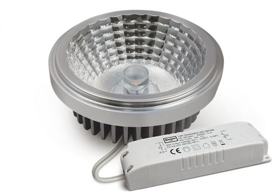 LED 10W AR111 Reflector - Flood Beam - Dimmable - Includes LED Driver