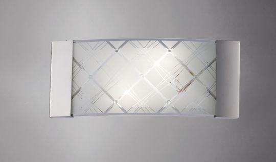 Diyas IL31280 Aries Wall Lamp 2 Light Polished Chrome/Glass