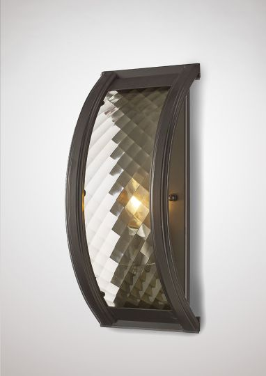 Diyas IL31675 Asia Wall Lamp 1 Light E14 Oiled Bronze/Clear Glass