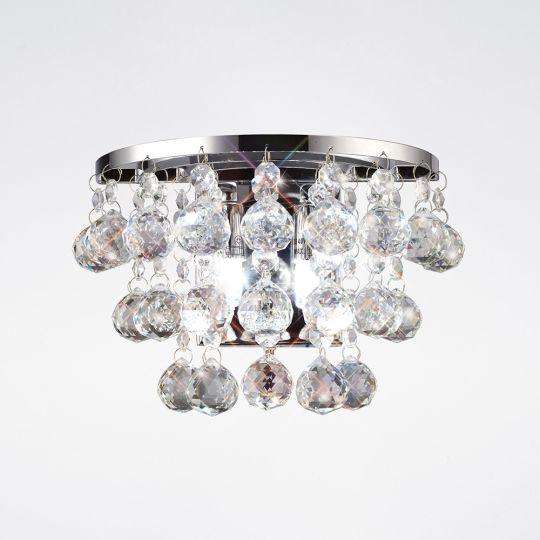 Diyas IL30014 Atla Wall Lamp 2 Light Switched Polished Chrome/Crystal