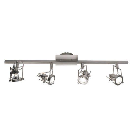 Dar Lighting Bauhaus 4 Light Bar Satin Chrome GU10 BAU8446