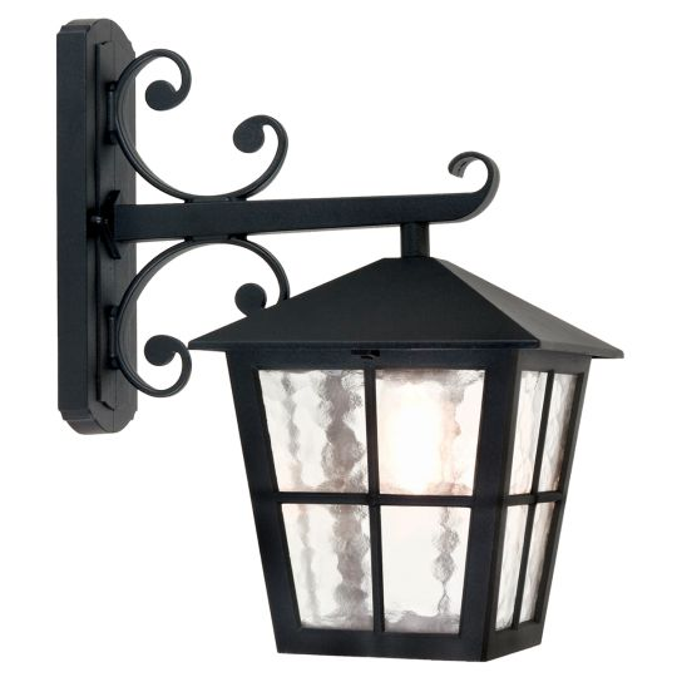 Elstead Lighting Canterbury 1 Light Grande Wall Down Lantern BL52M-BLACK