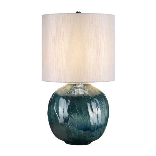 Elstead Lighting Blue Globe 1 Light Table Lamp BLUE-GLOBE-TL