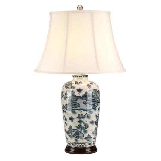 Elstead Lighting Blue Traditional 1 Light Table Lamp BLUE-TRAD-WP-TL