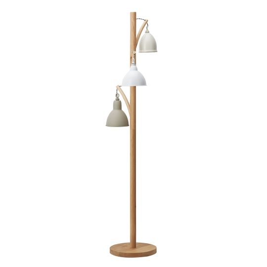 Dar Lighting BLY4943 Blyton 3 Light Floor Lamp complete with Painted Shade